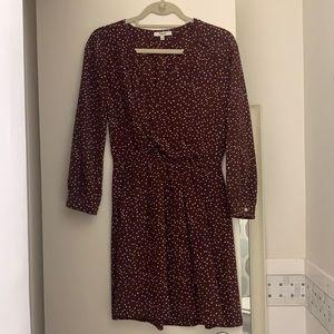 Madewell Polka Dot Silk Wrap Dress Size 2